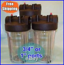 10 Big Blue Clear Filter Housing 3 Whole House Pool RO