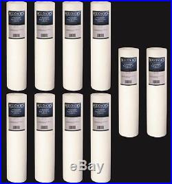 10-PK Big Blue 20 x 4.5 (5 Micron) Sediment Whole House Water Filters Iron Rust