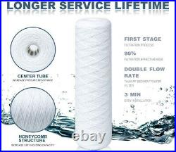 10 Pack 20 x 4.5 String Wound Whole House Sediment Water Filter 5/10/20 Micron