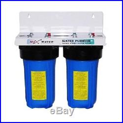 10 X 4.5 BIG BLUE Sediment Carbon Whole House Water Filter System 1 or 3/4