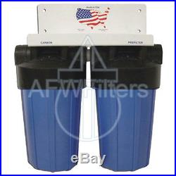 10-inch 2 Stage Big Blue Whole House Filter with KDF-85 for Sulfur Water