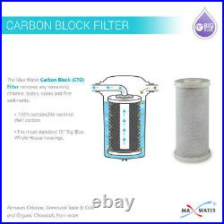 10x4.5 BB Clear 1 Port WH Water Filter 3 Stages System + Gauges
