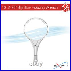 10x4.5 Big Blue Clear 1 Port WH Water Filter 3 Stages System + Gauges