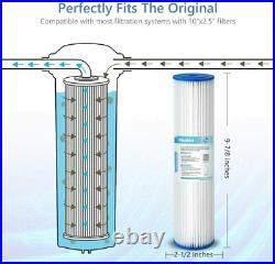 1-50 PACK 10x2.5 Whole House Pleated Sediment Water Filter RO 20/50/5 Micron