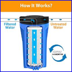 1-6 PACK 10x4.5 Carbon Block Water Filter Whole House RO Cartridge Replacement