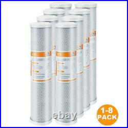 1-8 PACK 20 x 4.5 Big Blue CTO Activated Carbon Block Water Filter Replacement