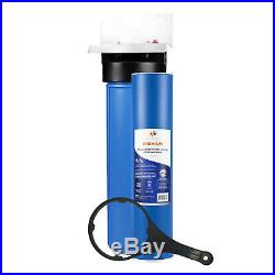 1-Stage Big Blue 20 Whole House System 1 Port+GAC Filter, Pressure release
