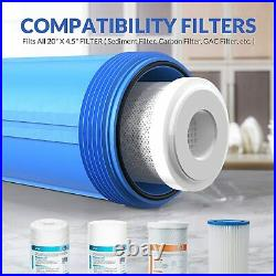 1-Stage Whole House Water Filtration System with 3Pack Sediment Water Filters