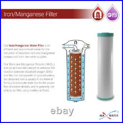 1x Big Blue 20x 4.5 IRON and Manganese removal Water Filter