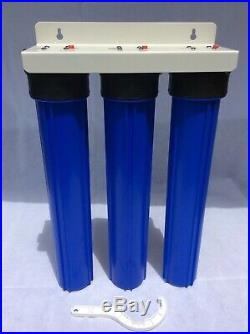 20 3 Stage Whole House Water Filter System High Quality Pressure & Flow Rate 1