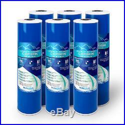 20 Big Blue (GAC) Replacement Water Filters (6 Pcs) 4.5 x 20 Cartridges