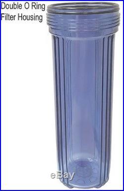 20 Big Blue Whole House Water Filter + Sediment 5 Micron+Liquid Pressure Gauge