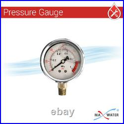 20 Dual Big Blue Clear Whole House Water Filter 1, With Pressure Gauge