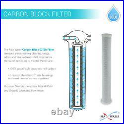 20 Sediment GAC CTO Carbon Block Slim type 20 x 2.5 Water Filter Set
