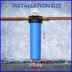 20 x 4.5 Big Blue Water Filter Housing For Whole House 1 Outlet/Inlet Class