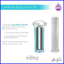 20 x 4.5 Big Blue Whole House CTO, GAC and 5 Micron Sediment Filter Replacment