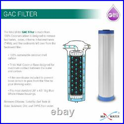 20 x 4.5 Big Blue Whole House GAC and Sediment Filter Replacment