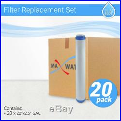 20 x Max Water Whole House GAC UDF GAC Coconut Shell Carbon Filter, 20x2.5