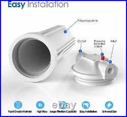 20x4.5/10 x 4.5/10 x 2.5 Big Blue Whole House Water Filter System Certifie