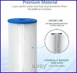 20x4.5 50/20 Micron Whole House Big Blue Sediment Pleated Water Filter 2-9Pack