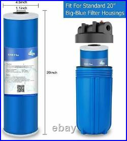 20x4.5 5 Micron Whole House GAC Carbon Water Filter for Big Blue Housing 10PCS