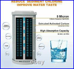 25Pack 5Micron 2.5x10Whole House CTO Carbon Water Filter Cartridge Replacement