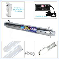 25W (22 LPM) Ultra Violet LUXE Water Treatment Systems c/w 5 mic Sediment Filter