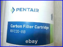 2 Lot Pentair Pentek RFC20-BB Big Blue Carbon Water Filter 20-Inch