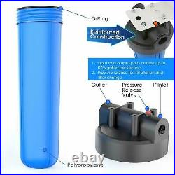 2 Set 204.5'' Big Blue Filter Housing+ Spin Down Sediment Reusable Water Filter
