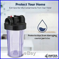 2 Stage 10 Big Blue Clear Housing -1 Outlet/Inlet For Whole House Water Filter