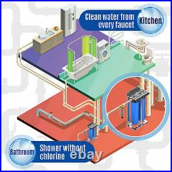2-Stage 20 Whole House Filtration System by Aquaboon+Carbon+Sediment+Frame
