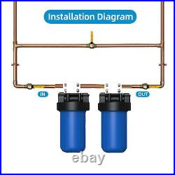 2-Stage Big Blue 10 Whole House System, Carbon, String, Sediment Pre Water Filter