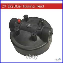 3Big Blue Housings 20 Clear Whole House Water Filtration System 1 Brass Port