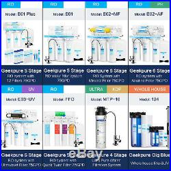 3 Packs Big Blue 10 Whole House Water Filter Clear Housing 1 Outlet/Inlet