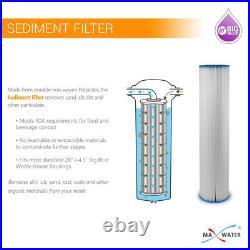3 Pcs Big Blue 20x4.5 Whole House Pleated Sediment GAC Carbon Water Filter Set