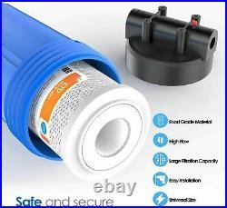 3 Set 204.5 Big Blue Filter Housing+ Reusable Spin Down Sediment Water Filter