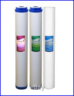 3 Stage 20 Whole House Water Filter Softening Softener System With Ball Valves