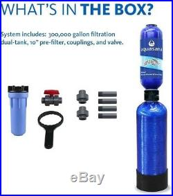 3-Stage 300000-Gal Whole House Clean Healthy Water Tank Filtration System Blue