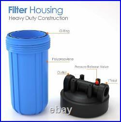 3 Stage Big Blue 10 Whole House System 1 Port + Carbon Block+Sediment Filters