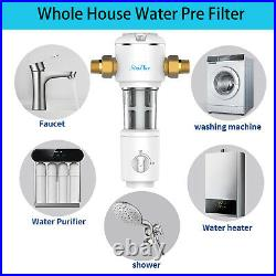 3-Stage Big Blue 10 Whole House System, Carbon, Sediment, Spin Down Water Filter