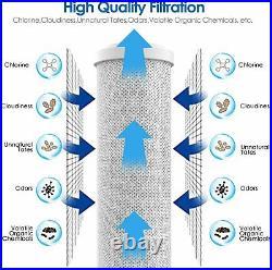 3-Stage Big Blue 20 Whole House Filtration System+Stand+GAC+Carbon+Sediment DC3