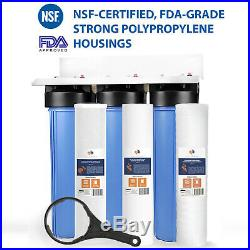 3-Stage Big Blue 20 Whole House System 1+Carbon, Sediment, String Wound Filters