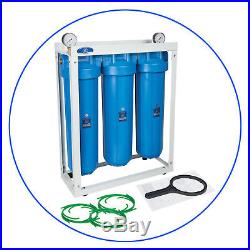 3 Stage Big Blue 20 with 2 x gauge Whole House water filter System 1,20x4,5