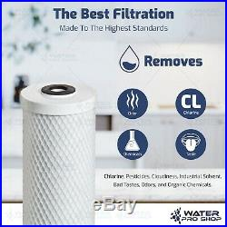 3 Stage Big Blue Water Filter Replacement Kit, Sediment/KDF/Carbon 4.5 x 20