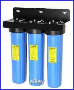 3-Stage Whole House Water Filtration System with 20 x 4.5 Big Blue Fine Sediment