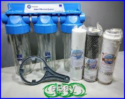 3 Stage Whole House Water Softening and Iron Removal Salt Free Salt Free 3/4 BSP