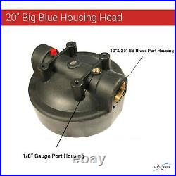 3 x20x4.5 BB Whole House Filter Blue Housing 1 Ports with Wrench, Gauge, Bracket