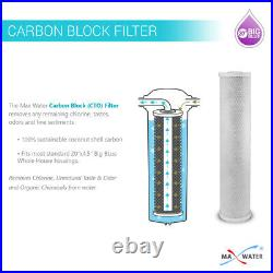 4 Big Blue Filters 20x 4.5 Whole House Sediment CTO Carbon Block Water Filter