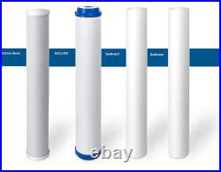 4 Big Blue Water Filter/Cartridges 4.5 x 20 2 Sediment, 1 GAC, 1 Carbon Block