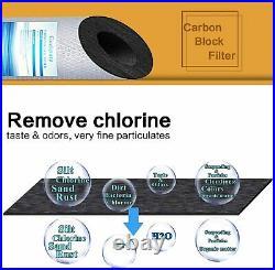 4 PK Big Blue Carbon Block & PP Sediment Replacement Water Filter Set 20 x 4.5